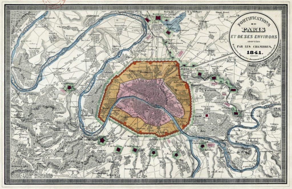 Fortifications de Paris et ses environs en 1841