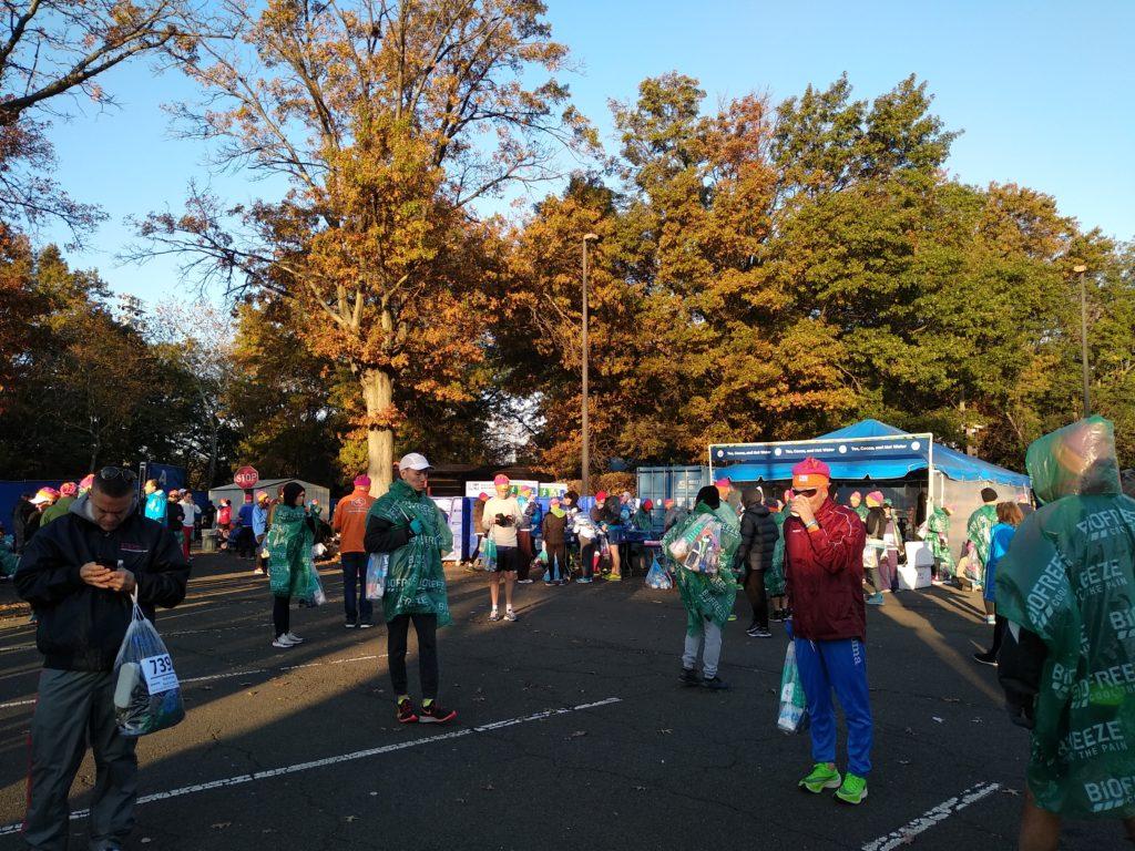 Marathon de New York - Attente Village