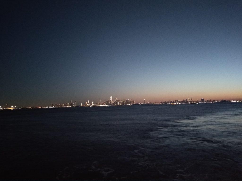 Marathon de New York - Ferry Vue sur New York