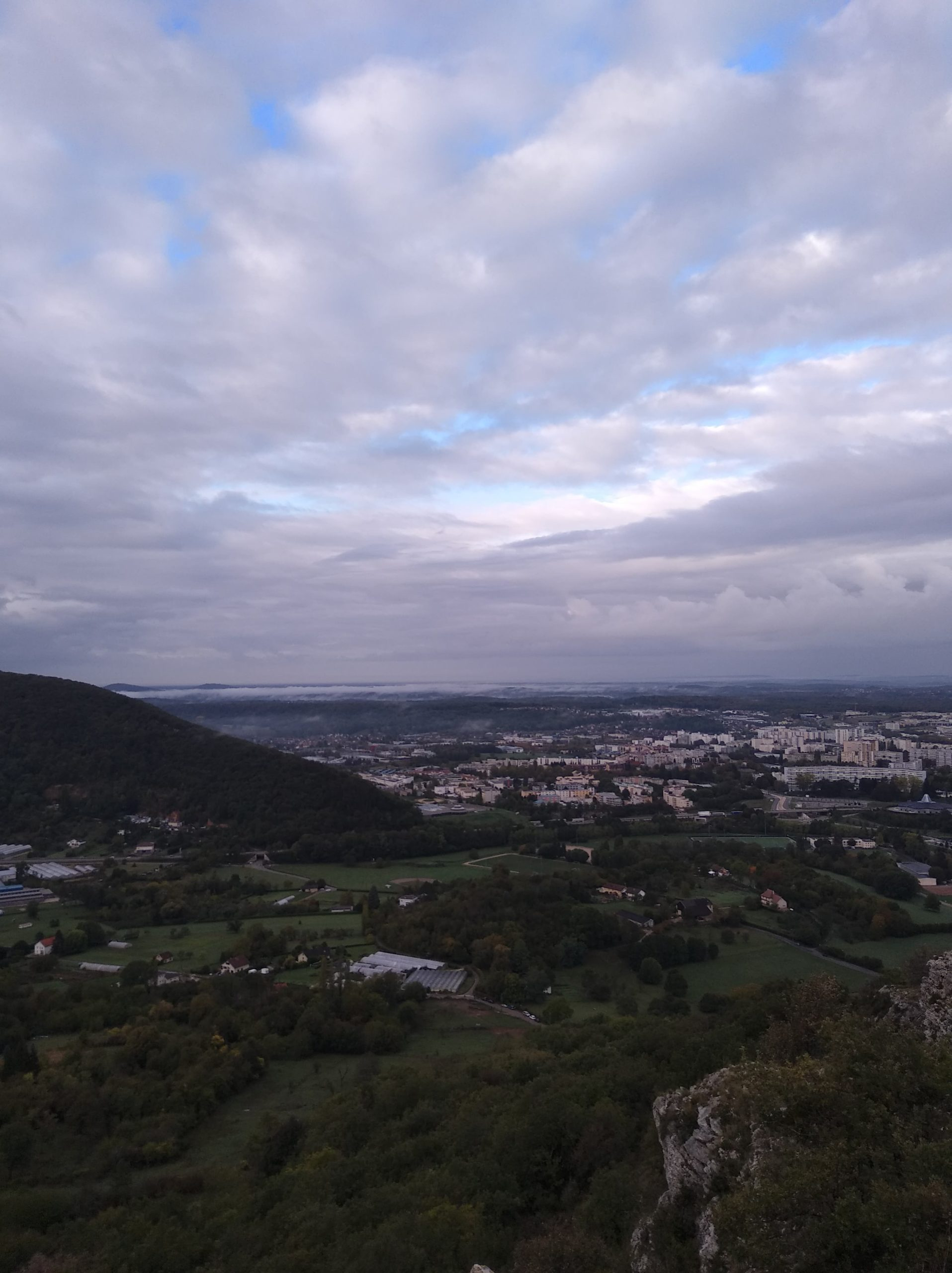 Trail des Forts de Besançon - Vue sur Besançon
