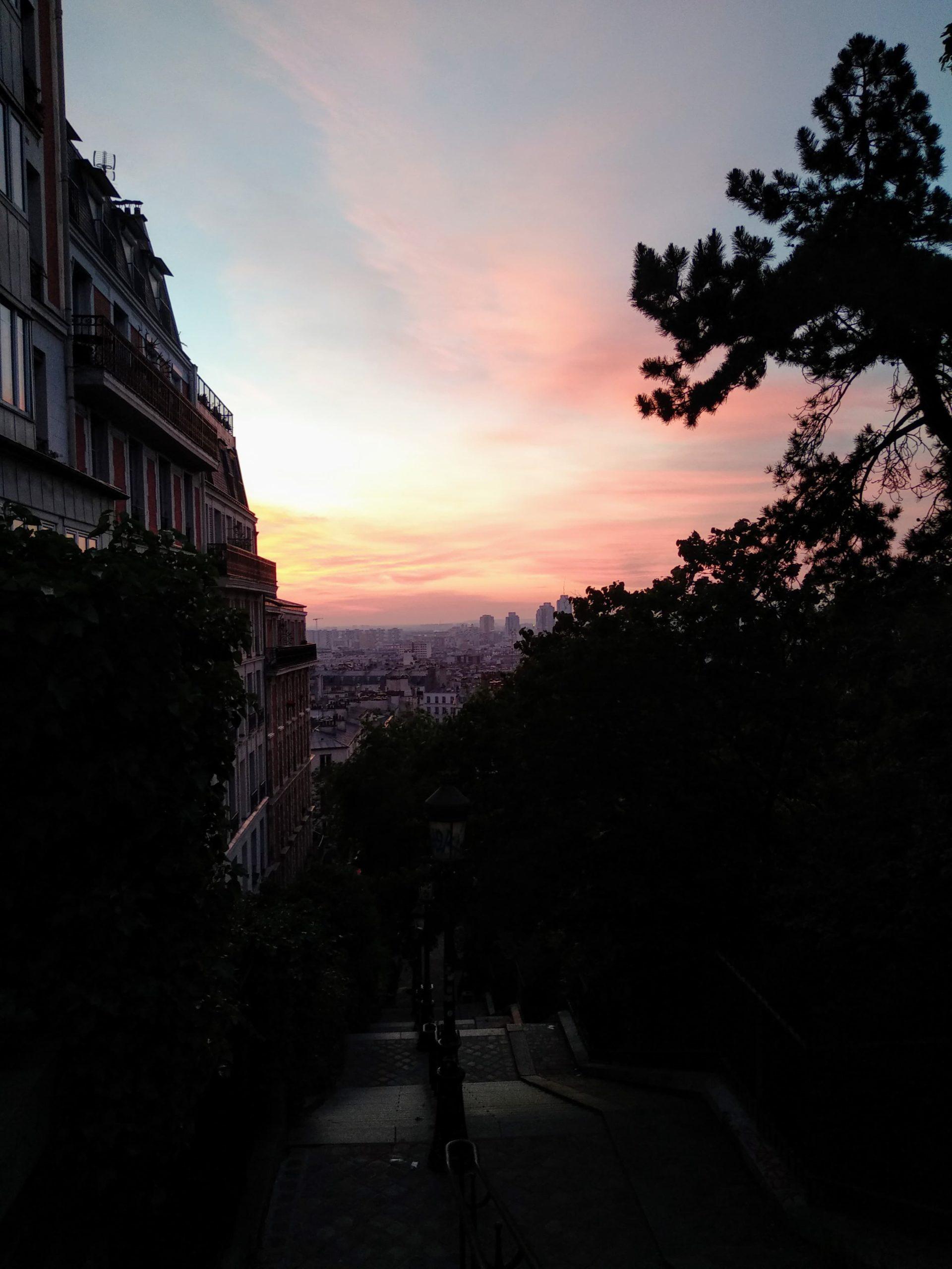 Lever de soleil sur Montmartre